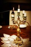 Extinguishing candles Stock Image