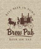 Retro brewery Royalty Free Stock Photo