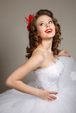 Retro bride Stock Image