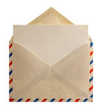 Retro brief van de de postenvelop van de stijllucht Stock Afbeelding