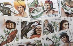 Retro- Briefmarke Lizenzfreies Stockbild