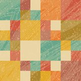 Retro bright background in grunge design. Abstract style royalty free illustration