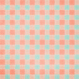 Retro brightly colored blue and pink plaid backgr Stock Photos