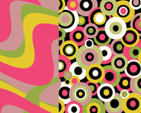 Retro brightly colored graphic design Royalty Free Stock Photos