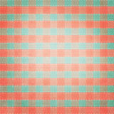 Retro brightly colored plaid textile fabric Royalty Free Stock Photo