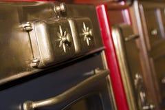Retro bronze stove Stock Photos