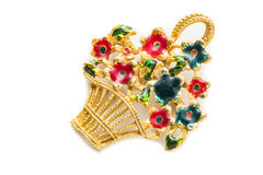 Retro brooch Royalty Free Stock Photos