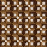 Retro brown abstrakcjonistyczny tło wzór Obraz Stock