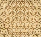 Retro brown akwareli tekstury grunge tła bezszwowy trefoi Obrazy Royalty Free