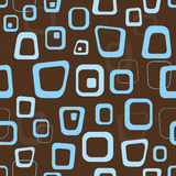 Retro brown background. Seamless retro brown and blue background pattern royalty free illustration