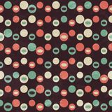 Retro brown circle seamless pattern Royalty Free Stock Images