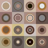 Retro brown circles stock photography