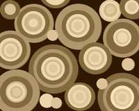 Retro brown circles. Fun background in browns and tans of various sizes of retro circles Royalty Free Stock Photo