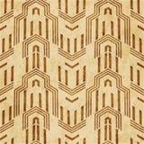 Retro brown cork texture grunge seamless background polygon geom. Etry arrow cross frame Vector Illustration