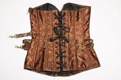 Retro of brown corset Stock Photo