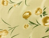 Retro Brown Floral Pattern Fabric Background Royalty Free Stock Photo