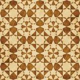 Retro brown islam geometrii wzoru bezszwowego tła wschodni stylowy ornament royalty ilustracja