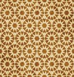 Retro brown islam geometrii wzoru bezszwowego tła wschodni stylowy ornament ilustracja wektor