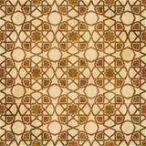 Retro brown islam geometrii wzoru bezszwowego tła wschodni stylowy ornament ilustracji