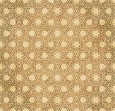 Retro brown islam geometrii wzoru bezszwowego tła wschodni stylowy ornament Obraz Stock