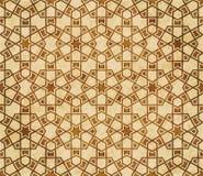 Retro brown islam geometrii wzoru bezszwowego tła wschodni stylowy ornament Zdjęcie Royalty Free