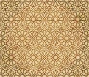 Retro brown islam geometrii wzoru bezszwowego tła wschodni stylowy ornament Obrazy Royalty Free