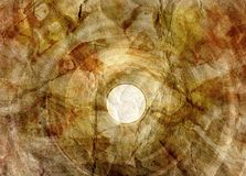 Retro brown watercolor crumpled background Stock Photo