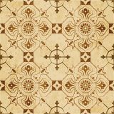 Retro brown watercolor texture grunge seamless background check Royalty Free Stock Photography