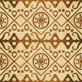 Retro brown watercolor texture grunge seamless background check Royalty Free Stock Photo