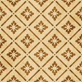 Retro brown watercolor texture grunge seamless background check Royalty Free Stock Photos