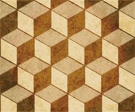 Retro brown watercolor texture grunge seamless background 3D cub Stock Photos