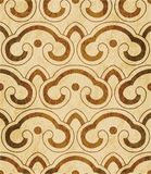 Retro brown watercolor texture grunge seamless background polygo Stock Photography