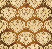 Retro brown watercolor texture grunge seamless background polygo Stock Photos