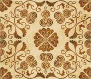 Retro brown watercolor texture grunge seamless background polygo Royalty Free Stock Photos