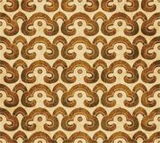 Retro brown watercolor texture grunge seamless background polygo Stock Image