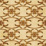 Retro brown watercolor texture grunge seamless background polygo Royalty Free Stock Image