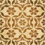 Retro brown watercolor texture grunge seamless background polygo Stock Photo