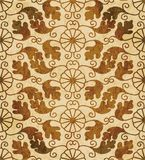 Retro brown watercolor texture grunge seamless background polygo Royalty Free Stock Photo