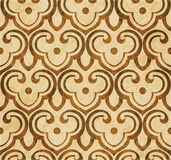 Retro brown watercolor texture grunge seamless background polygo Stock Images