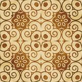 Retro brown watercolor texture grunge seamless background spiral Royalty Free Stock Image