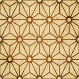 Retro brown watercolor texture grunge seamless background star c. Ross flower frame Royalty Free Stock Image