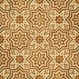 Retro brown watercolor texture grunge seamless background star. Retro brown watercolor texture grunge seamless background star flower geometry cross Stock Image