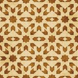 Retro brown watercolor texture grunge seamless background star g. Eometry kaleidoscope Stock Photography