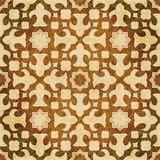 Retro brown watercolor texture grunge seamless background star. Retro brown watercolor texture grunge seamless background star kaleidoscope geometry Royalty Free Stock Photo