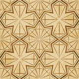 Retro brown watercolor texture grunge seamless background star p. Olygon geometry cross frame Stock Image