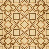Retro brown watercolor texture grunge seamless background star s. Quare geometry cross frame Stock Photography