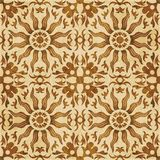Retro brown watercolor texture grunge seamless background sun ro. Und flower kaleidoscope Vector Illustration