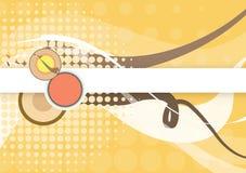 Retro Bruin ronde en cirkel grafisch ontwerp Royalty-vrije Stock Foto