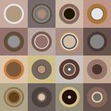 Retro bruine cirkels Stock Fotografie
