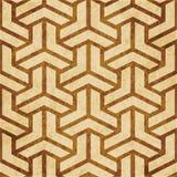 Retro bruine cork textuur grunge naadloze Veelhoek als achtergrond 3D T vector illustratie